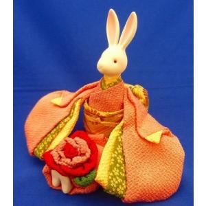 オルゴールきもの人形うさぎ 曲名:「花」プレゼントとして、お土産として、お祝いの贈答品として