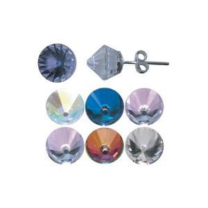1ペア(2個1セット) 材質:シルバー925、8mmカットガラス サイズ:約W8xH8mm