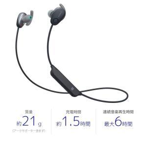 ソニー SONY ワイヤレスノイズキャンセリングイヤホン WI-SP600N BM : Bluetooth対応 NFC接続対応 防滴仕様 2|totasu888
