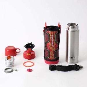 タイガー 水筒 500ml 直飲み コップ 付 2WAY ステンレス ボトル ポーチ付き サハラ レッド MBO-G050-R Tiger|totasu888