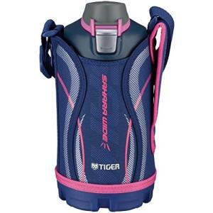 タイガー 水筒 800ml 直飲み ステンレス スポーツ ボトル ポーチ付き サハラ ネイビー MME-C080-A Tiger|totasu888