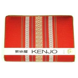 福岡県伝統工芸品 博多織り 献上柄 健康保険書証入れ・カードケース・通帳ケース 赤色