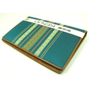 福岡県伝統工芸品 博多織り 献上柄 健康保険書証入れ・カードケース・通帳ケース 緑色