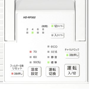 ダイニチ ハイブリッド式加湿器(木造和室8.5畳まで/プレハブ洋室14畳まで) RFシリーズ ホワイト HD-RF502-W|totasu888