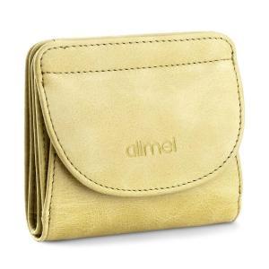 Alimei 二つ折り財布レディース 本革財布 ボックス型 メンズ 小銭入れ 大容量 コインケース (グリーン)|totasu888