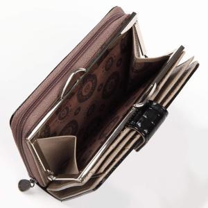 Qian Xi Lu 2つ折り財布 レディース 牛皮 かわいい 黒|totasu888