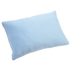 京都西川 枕 低反発 チップ使用 ふんわり やわらか 35×50cm ブルー 06-PL2391(M...