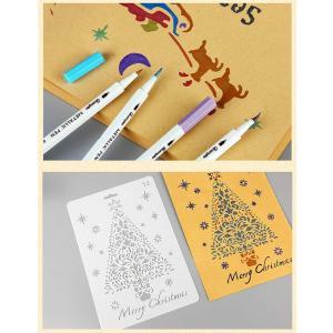 12枚 クリスマス ステンシル シート 図面テンプレート 絵の具セット 塗り絵 知育玩具 子供 男の子 女の子 小学生 ドローイングス 描画 totasu888