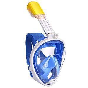 シュノーケルマスク EKOOS ダイビングマスク 防曇 フルフェイス型 子ども用 180°のワイドビ...