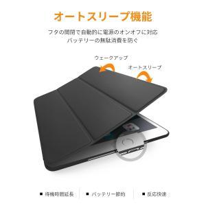 DTTO iPad Air2 ケース 超薄型 超軽量 TPU ソフト スマートカバー 三つ折り スタンド スマートキーボード対応 キズ防止 totasu888