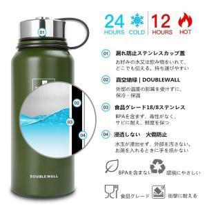 スポーツボトル 真空断熱 保冷 ステンレス鋼304 直飲み 0.6/0.8/1.1/1.5リットル (グリーン, 600ml)|totasu888