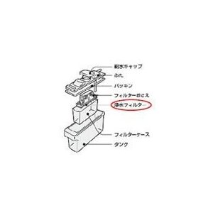 シャープSHARPシャープ冷蔵庫用浄水フィルター(201 337 0085)2013370085|totasu888