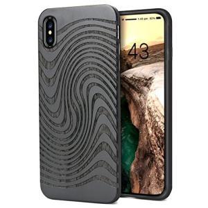 iPhone Xs ケース iPhone X/iPhone 10 対応 ケース 黒檀木製 ワイヤレス充電対応 レーザー彫刻 ハードケース ス totasu888