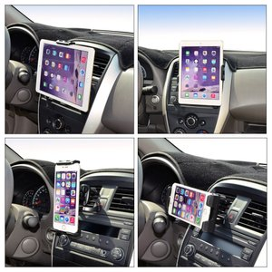 Unique Spirit 車載ホルダー タブレット エアコン ipad スマホスタンド 車載ホルダー 4〜10.5インチ|totasu888