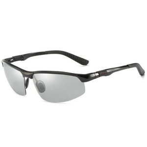 JL 変色調光サングラス 偏光サングラス スポーツ サングラス 超軽量 UV400 紫外線カット 偏光サングラス 自転車釣り野球テニススキー|totasu888