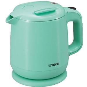 飲みたいときにサッと沸く TIGER 電気ケトル 0.8L(フッ素加工内容器)アクアブルー PCE-A080-AA|totasu888