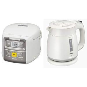 セット販売タイガー マイコン 炊飯器 3合 ホワイト 炊きたて ミニ 炊飯 ジャー JAI-R551-W +タイガー 魔法瓶 電気 ケトル|totasu888