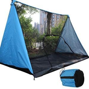 モスキートネット (蚊帳) 超軽量携帯式テント キャンピング、キャンプ、アウトドアに (青い色)|totasu888