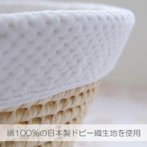 PUPPAPUPO 日本製 クーハン ロイヤルホワイト 立体感のあるふわふわのドビー生地 クーファン ベビーキャリー かごクーハン ベビー|totasu888