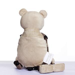 迷子防止 ぬいぐるみ 赤ちゃん歩行補助 アニマルハーネス 迷子紐 アウトドア安全ベルト付 (ベージュクマ)|totasu888