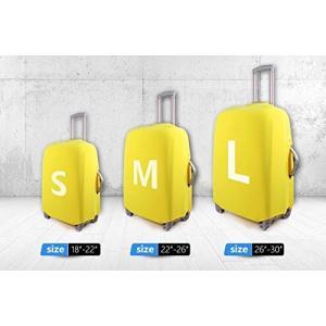 Cozeyat スーツケースカバー 伸縮素材 丈夫 防水 s m l サイズ かわいい (l:26-30インチ, 柄 35)|totasu888
