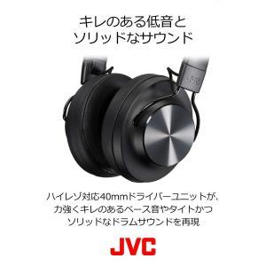 JVC HA-SD70BT ワイヤレスヘッドホン 高音質化技術 K2テクノロジー搭載/連続20時間再...