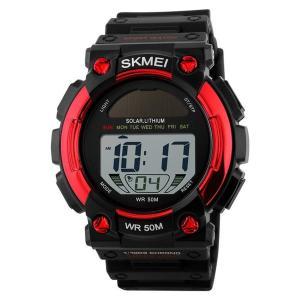 メンズ 個性的な腕時計 セイコー ソーラー 防水うでどけい レディース 日本製電源と機軸 デジタル多機能 50M防水性 夜光性 目覚まし時計|totasu888