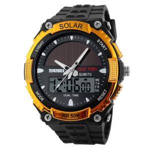 メンズ セイコー ソーラー せいこううでどけい レディース ストップウォッチ付き 個性的な腕時計 アラーム ダブルタイム カウント ダウン|totasu888
