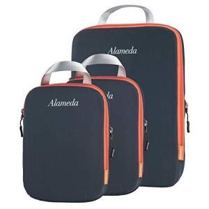 パッキングキューブ3袋セット、旅行用、圧縮袋、荷物/バックパックの整理整頓…