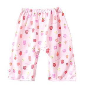 おねしょ対策ケット ズボン パンツ おねしょ ズボンタイプ トレーニングパンツ 防水 通気 女の子 ピンク イチゴ 花 天然コットン 3-5|totasu888