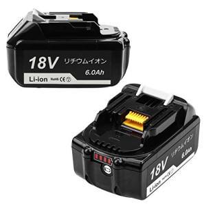 Andio bl1860b マキタ18v バッテリー マキタバッテリー18v 6000mAh LED...