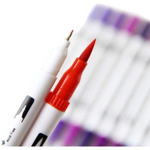 GCQUILL 100色 アートマーカーペン セット 筆ペン 水彩毛筆 線画ペン 水性ペン カラーペンセット クリーンカラー 塗り絵 オフィ|totasu888