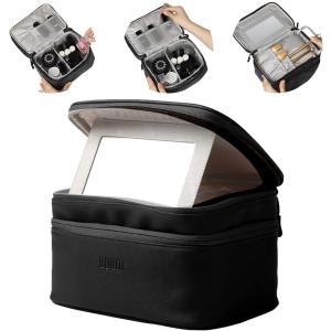 化粧ポーチ メイクボックス 鏡付き コスメボックス BUBM 大容量 化粧ボックス かわいい コスメケース 化粧台 バニティケース ビューテ|totasu888
