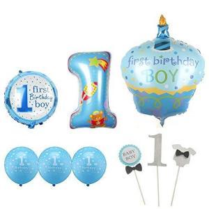 C 男の子 ファースト バースデー バルーン トッパーセット 風船 1才 1歳 一才 一歳 誕生日 演出|totasu888