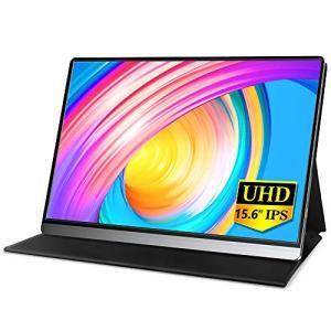 MISEDI 4K 15.6インチ モバイルモニター 3840*2160 UHD モバイルディスプレイ USB Type-C*2/HD付 P|totasu888