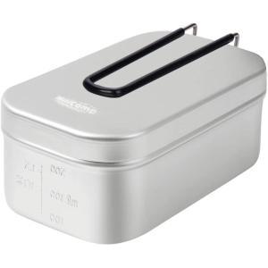 MiliCamp メスティン 飯盒 MR-250 Pro メモリ付き 吹きこぼれ抑止溝付き アウトドア 調理器具 ハンゴウ キャンプ飯 2合|totasu888