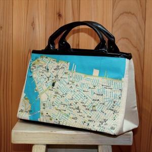 キャンバストートマップNY地図柄Sサイズトートバッグ totemap