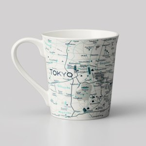 窓付BOX T型mapmug マップマグ Tokyo東京(英語)|totemap