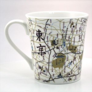 窓付BOX T型mapmug マップマグ 東京(漢字)紫|totemap