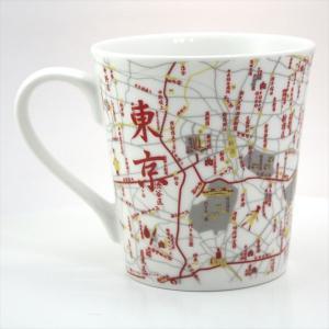 窓付BOX T型mapmug マップマグ 東京(漢字)赤|totemap