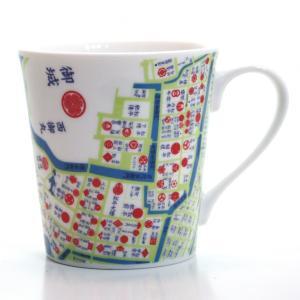 窓付BOX T型mapmug マップマグ 江戸古地図1|totemap