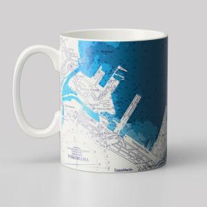 14オンス 海図mapmug  横浜港海図|totemap