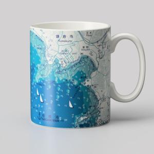 14オンス 海図mapmug  江の島〜長者が崎|totemap