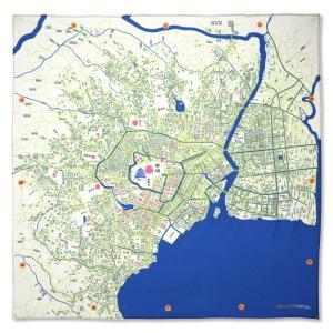 江戸古地図インテリア風呂敷|totemap