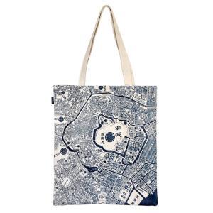 江戸古地図&現在の東京地図 トートマップB4ショルダー キャンバス地 生成り|totemap