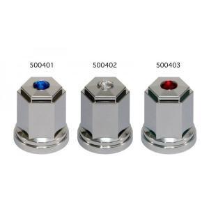 【ビーズ付角型ナットカバー60L 33MM(ISO) ABS】8個入り 各色 totocar