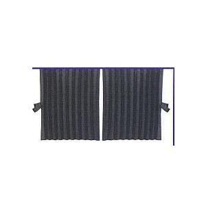 リアベットカーテン アコーディオン式 ブラック|totocar
