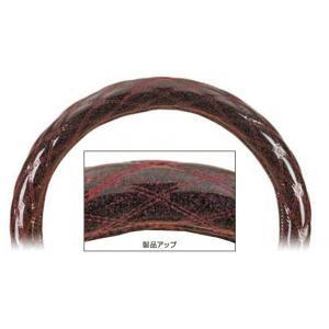 【もこもこダブルステッチステッチハンドルカバー  Aタイプ (太巻き) 】ワインレッドメタリック 41cm用  |totocar