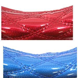 【モコモコダブルステッチハンドルカバー  Aタイプ (太巻き)】カーボンレッド/カーボンブルー 40cmφ用|totocar
