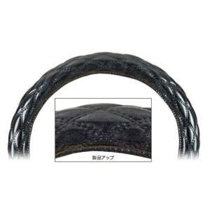 【モコモコダブルステッチハンドルカバー  Aタイプ (太巻き)】ロイヤルシルバーブラック 40cmφ用|totocar